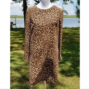 J. Crew leopard print sheath dress